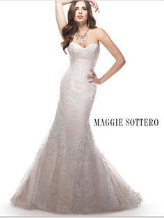 Maggie Sottero Eileen. Ivory cord over pale blush.