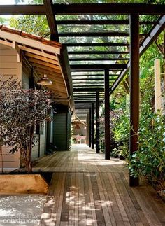 The wooden pergola is a good solution to add beauty to your garden. If you are not ready to spend thousands of dollars for building a cozy pergola then you may devise new strategies of trying out something different so that you can re Landscape Design, Garden Design, House Design, Landscape Steps, Patio Design, Outdoor Rooms, Outdoor Living, Outdoor Furniture, Verge
