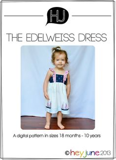 edelweiss dress PDF pattern- $8