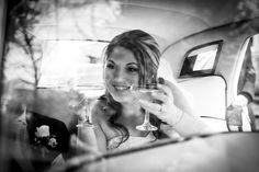 Bride arriving at reception