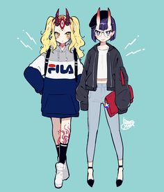 """Tagged with fate grand order; """"FGO/Casual Clothes"""" by Fate Stay Night, Anime Demon, Anime Manga, Cute Characters, Anime Characters, Ibaraki, Demon Girl, Fate Zero, Drawing Clothes"""