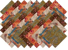 "BATIK VARIETY #17 COLLECTION 40 Precut 5"" QUILTING FABRIC SQUARES #MDG"