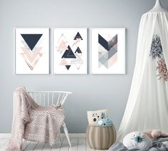 Set of 3 Geometric Printable Art Prints Scandinavian Decor Geometric Poster, Geometric Art, Scandi Art, Scandinavian Art, Canvas Frame, Canvas Art, Wall Art Sets, Nursery Art, Printable Art
