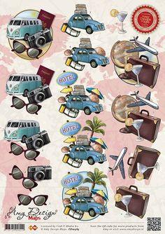 3D Knipvel van Amy Design, serie Maps met vliegtuig, paspoort en wereldbol Image Stitching, 3d Sheets, 3d Craft, Parchment Craft, Custom Art, Pattern Wallpaper, Fathers Day, Christmas Cards, Card Making