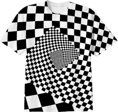 Spiral illusion pattern optical background design from Print All Over Me t-shirt