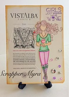 Wine, Cheese and Scrapbooking: Wine Labels Cards
