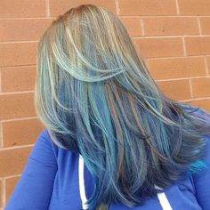 Blue Balayage For Light Brown Hair