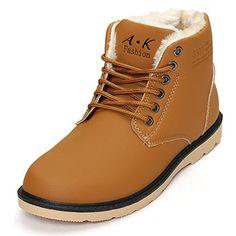 Bottes pour Homme, Gracosy Bottines de neige Montantes en Cuir Imperméable  Fourrees Chaussure de Sécurité Ville Boots Hiver, Noir Marron (Grille de  taille à ... cfa0f4e7240b