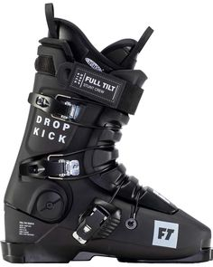Drop Kick All Mountain Park and Performance Preeminent in the world of freestyle skiing, the Full Tilt Drop Kick is the best ski boot for anyone looking to improve their freestyle skiing game, whether that be park, moguls, or aerials. Featuring an easy to slip into classic tongue liner and a reliable 6 / 90 flex tongue, The Drop Kick will allow you to blast throu gh bumps, soar off jumps, and ski with confidence.