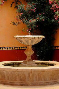 La fuente de la Hacienda  near Querétaro. Mexico