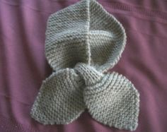 vintage knitted ascot lotus scarf Beige Child's size - Edit Listing - Etsy