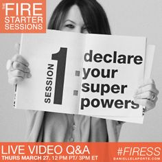 LIVE #fireSS video Q&A with me this Thursday, March 27th, at 12pm PT / 3pm ET. Get your questions in early here: http://bit.ly/1roi2tz -- And then tune in to the spreecast here: http://bit.ly/1dHcam8