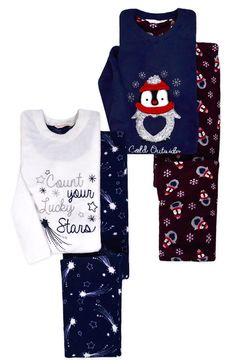 b6e279ef76 Ladies Pyjamas New Womens Long Sleeved Xmas Fleece Penguin Star PJ Set UK  size for you