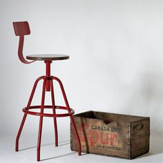 Industrial Factory Stools from Barn Light Electric 385.00