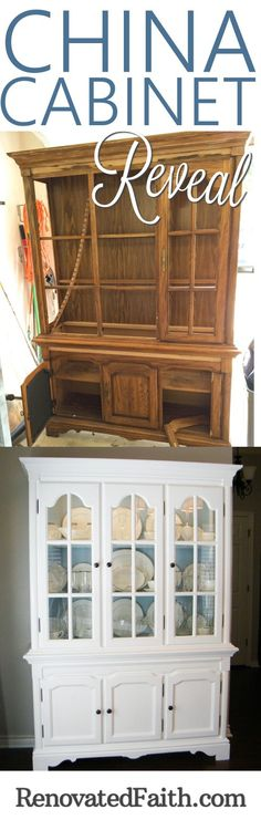 In spite of it's damage and deterioration, the transformation of the china cabinet helped me to realize how God uses our own brokenness to do his best work. www.renovatedfaith.com/chinacabinet
