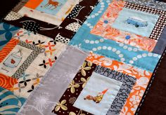 Modern Quilt Ideas-need to start collecting :) Quilting Projects, Sewing Projects, Quilting Ideas, Scrappy Quilts, Baby Quilts, Kinds Of Fabric, Diy Projects To Try, Quilt Blocks, Heather Ross