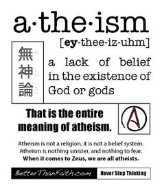 That's all.  #atheism
