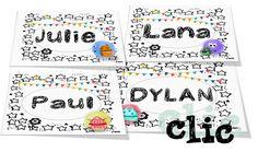 Etiquettes porte-manteaux... CP ou CE1 Bullet Journal, Education, Blog, Images, Clothes Racks, Attendance Board, Cursive Alphabet Letters, Back To School, Teaching