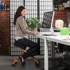 Jobri Wood Accent Kneeling Chair from www.badbacks.com.au
