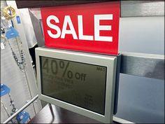 Digital Discount Saddle-Mounted – Fixtures Close Up Price Tickets, Digital Signage, Hardware, Bar, Signs, Ideas, Digital Signature, Computer Hardware, Shop Signs