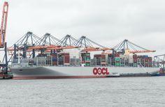 http://koopvaardij.blogspot.nl/2017/06/24-juni-2017-afgemeerd-yangtzekanaal.html    OOCL HONG KONG het grootste containerschip ter wereld afgemeerd Maasvlakte te Rotterdam