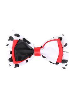 Disney 101 Dalmatians Cruella De Vil Cosplay Bow   Hot Topic