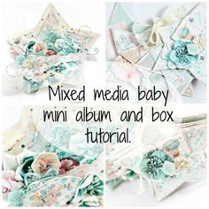 I created this mixed media box and created a little mini album to fit inside. I used the new Prima Marketing Heaven sent collection. **supply list** 962951 -...