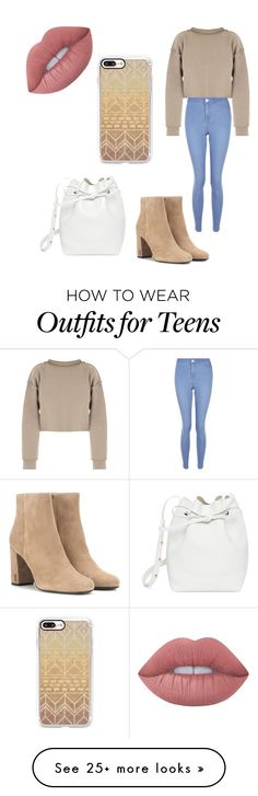 """""""Credit to: Hod"""" by mayarish on Polyvore featuring My Mum Made It, New Look, Yves Saint Laurent, Casetify, Mansur Gavriel and Lime Crime"""
