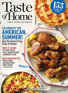 Welcome summer with a month of easy slow-cooker meals. Just prep, place in the slow cooker, and you're on your way to a delicious dinner. Taste Of Home, Food Blogs, Slice Of Life, Food Network, Slow Cooker, Little Muffins, Mets, Calories, Cookies Et Biscuits