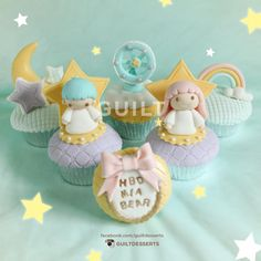 Little Twin Star Cupcakes