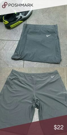 Nike fir dry sweat shorts size L Grey shorts inseam 10 full length 19 inches. Good condition no piling Nike Pants Track Pants & Joggers