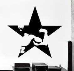 Wall Sticker Sport Bodybuilding Bodybuilder Muscle Vinyl Star Decal (z3076)