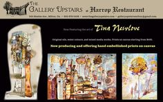 The Gallery Upstairs at Harrop Restaurant Fine art and decor art gallery Autumn ad for Sage Magazine