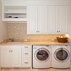 laundry room storage & folding counter.