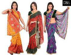 Bandhani Sarees Pack of 3 At Just Rs.1049 Only Buyoffers. visit now http://buyoffers.in