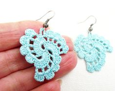 PDF Tutorial Crochet Pattern...Beaded Dangle Earrings 16