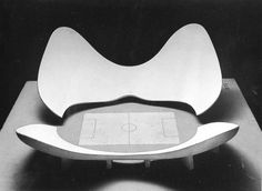 A model of stadium N by Luigi Moretti. Exhibited at the 1960 Parametric Architecture exhibition at the Twelfth Milan Triennial.