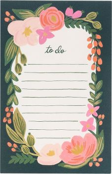 This bold and colorful floral note pad will add an element of whimsy to your work space. Includes 85 tear-off sheets of natural white paper. From Rifle Paper Co.<br /><br />Size - 4 1/4x 6 1/2