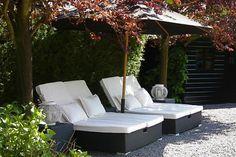 Mooie loungeplek voor de tuin