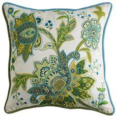 from pier one...love the colors in this pillow..makes me want to paint something in this color palette!
