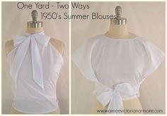 1950's Summer Blouses Cover