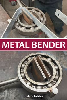 This powerful metal bender can shape and bend large metal pieces easily using a large super bearing. #Instructables #workshop #metalworking #tools