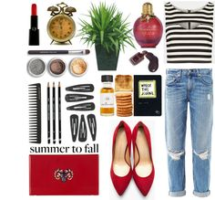 """""""Summer to Fall: Make Crop Tops Work"""" by theslaura on Polyvore"""