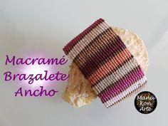 DIY Tutorial Macramé Brazalete Ancho Otoño - YouTube
