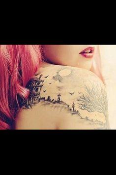 Horror scene tattoo