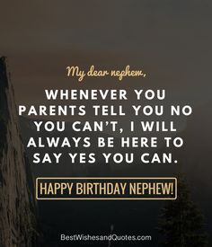 Pick one of these brilliant and unique birthday messages and say happy birthday to your nephew in a way that he will always remember. Happy Birthday Nephew Funny, First Birthday Quotes, Birthday Wishes For Nephew, Nephew Birthday Quotes, Nephew Quotes, Happy First Birthday, Best Friend Birthday, Little Boy Quotes, Brother Sister Quotes