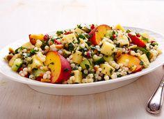 Salade de couscous israélien à l'Emmental recette | Plaisirs laitiers