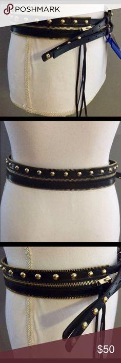 💥NWT Rebecca Minkoff Black  Gold Leather 3N1 Belt NWT ad24fac45