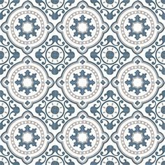 Moroccan Cement tiles are durable, easy to clean and naturally insulating. Cement tiles gives that beautiful ethnic edge on your home Wall And Floor Tiles, Wall Tiles, Cement Tiles, Wallpaper Roll, Pattern Wallpaper, Tile Patterns, Print Patterns, Traditional Tile, Encaustic Tile