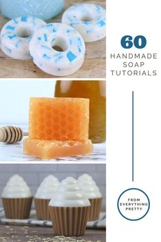 How to make soap with over 60 recipes. Includes melt and pour, cold process, glycerin without lye, and rebatched ideas. Includes easy ideas for beginners and DIY ideas for more advanced soap making. Make natural soap with essential oils at home. Includes several cute molds for a unique design. Recipes using coffee, honey, oatmeal, and jelly soap. Make artisan bar of soap at home for pretty gifts or to sell. Home made natural soap ideas and tutorials. #soap #soapmaking #diy Liquid Soap Making, Handmade Soap Recipes, Jelly Soap, Soap Tutorial, Essential Oils Soap, Diy Hair Care, Beauty Recipe, Home Made Soap, Diy Beauty